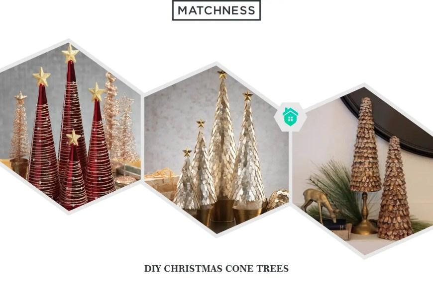 1. diy christmas cone trees