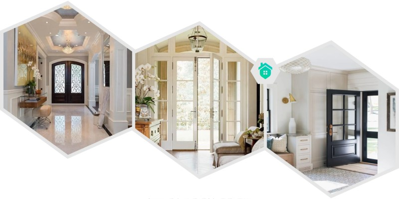 11. simple and elegant entry way