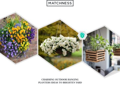 14. outdoor hanging planters