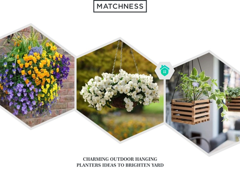 14. outdoor hanging planters