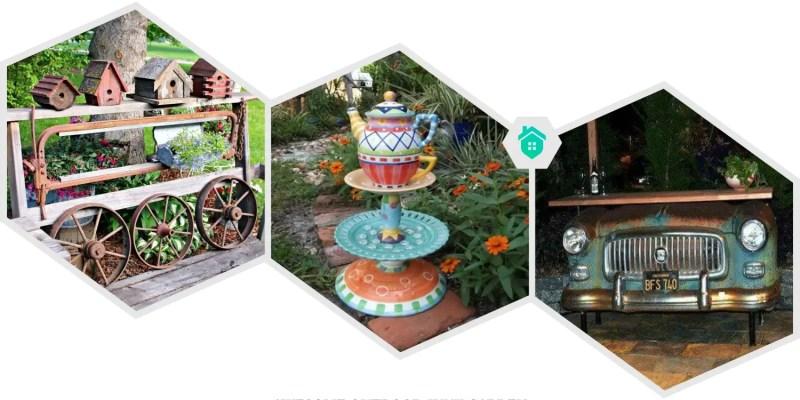 38. outdoor junk garden