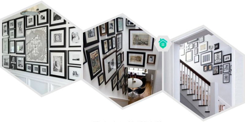 4. white wall and picture frames