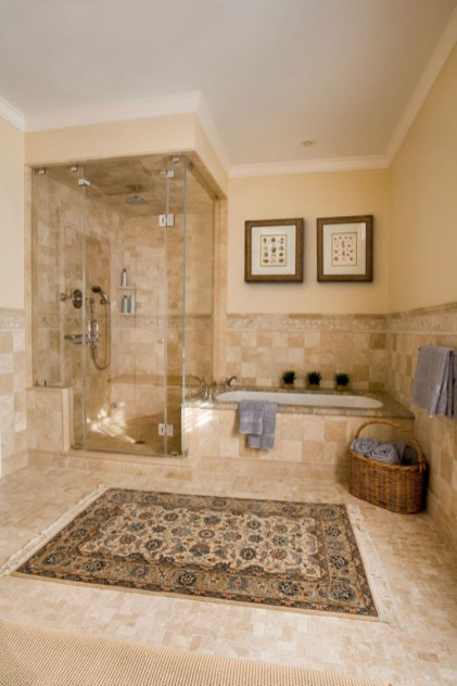 Adorable mosaic marble shower tile for your bathroom 01