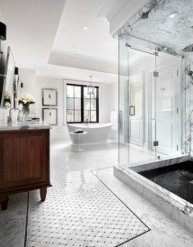 Adorable mosaic marble shower tile for your bathroom 03