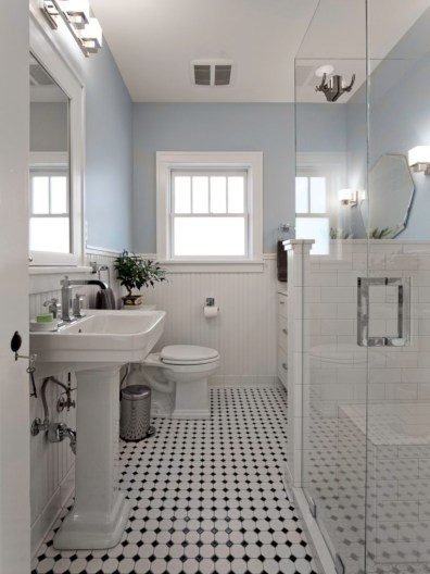 Adorable mosaic marble shower tile for your bathroom 11