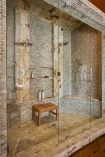 Adorable mosaic marble shower tile for your bathroom 19