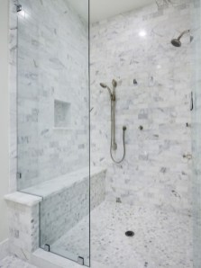 Adorable mosaic marble shower tile for your bathroom 21