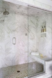 Adorable mosaic marble shower tile for your bathroom 31