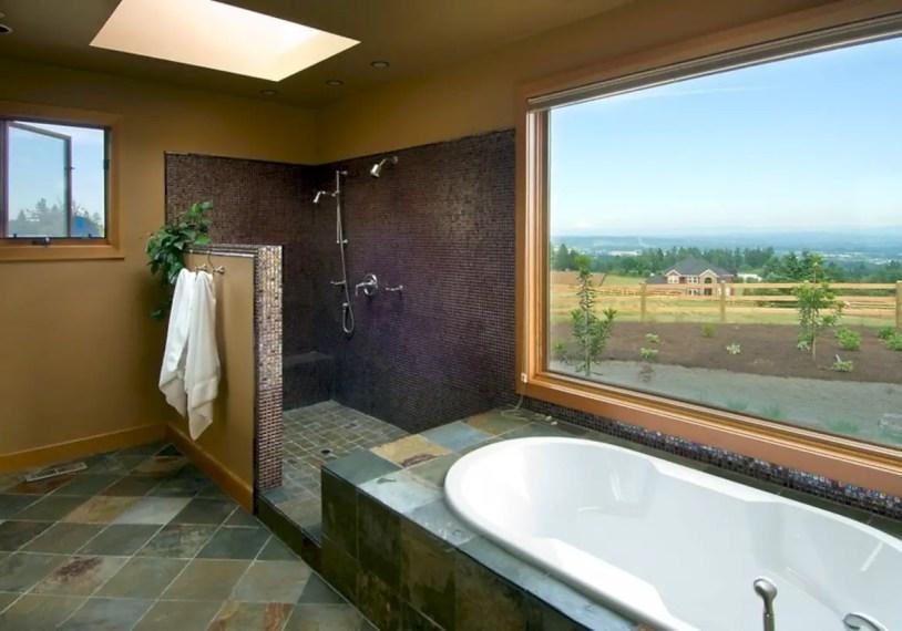 Amazing doorless shower design ideas 20