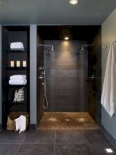 Amazing doorless shower design ideas 24