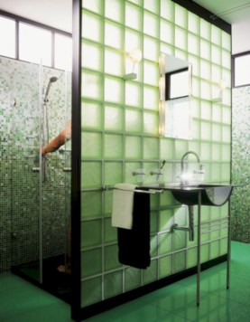 Amazing glass brick shower division design ideas 02