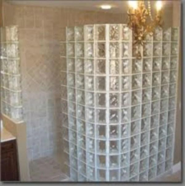 Amazing glass brick shower division design ideas 03