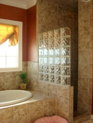 Amazing glass brick shower division design ideas 10