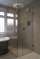 Beautiful bathroom frameless shower glass enclosure 02
