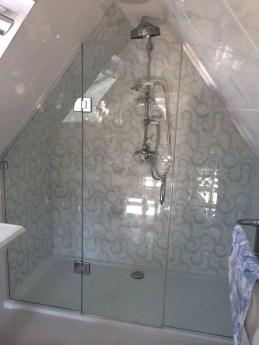 Beautiful bathroom frameless shower glass enclosure 07