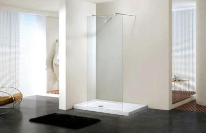 Beautiful bathroom frameless shower glass enclosure 13