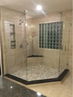 Beautiful bathroom frameless shower glass enclosure 18