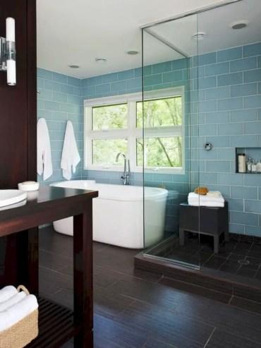 Beautiful bathroom frameless shower glass enclosure 24