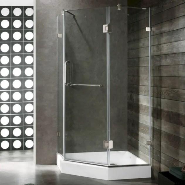 Beautiful bathroom frameless shower glass enclosure 29