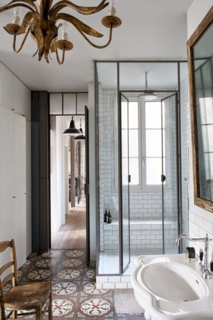 Beautiful bathroom frameless shower glass enclosure 30