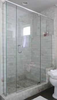 Beautiful bathroom frameless shower glass enclosure 34