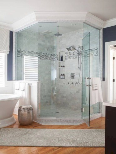 Beautiful bathroom frameless shower glass enclosure 40