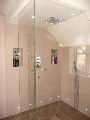 Beautiful bathroom frameless shower glass enclosure 41