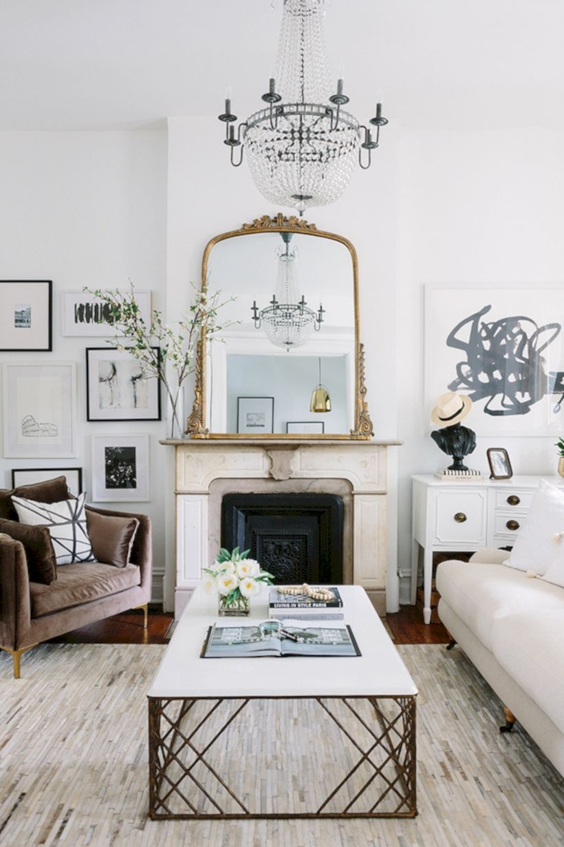 Beautiful living room design ideas with mirror 02