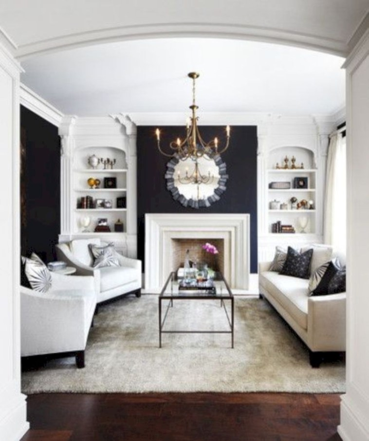 Beautiful living room design ideas with mirror 04