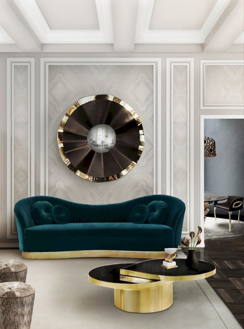 Beautiful living room design ideas with mirror 14