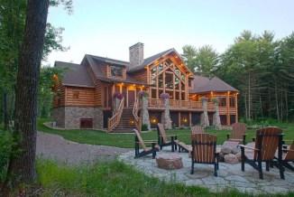 Beautiul log homes ideas to inspire you 14