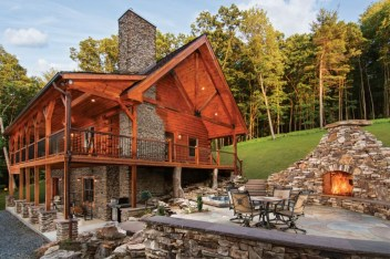 Beautiul log homes ideas to inspire you 24