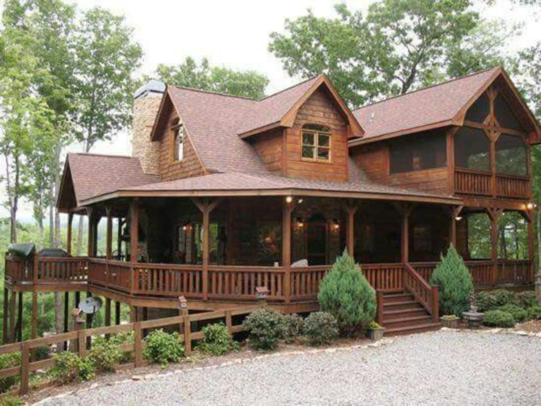 Beautiul log homes ideas to inspire you 44