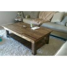 Best chunky farmhouse coffee table 05