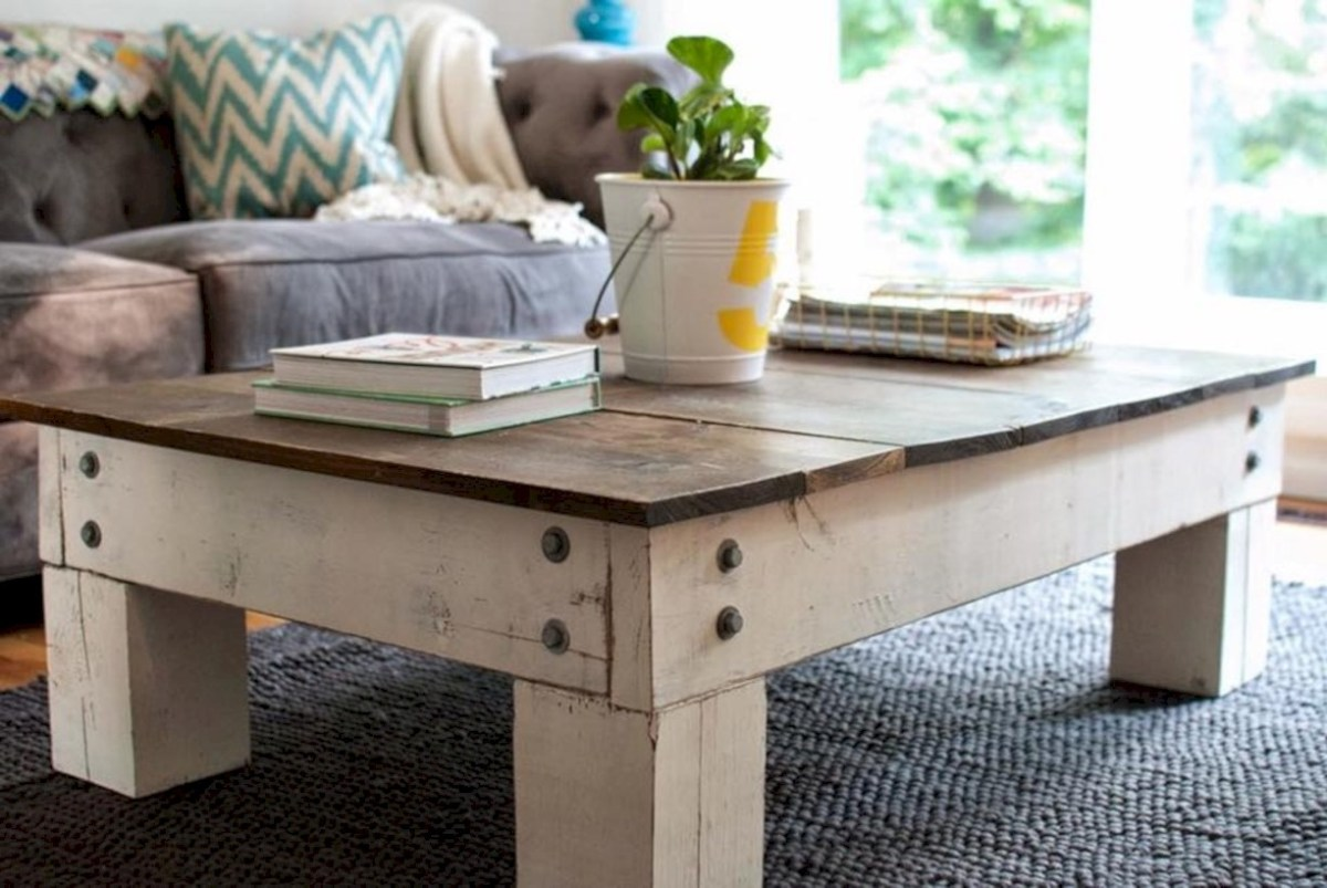 Best chunky farmhouse coffee table 07