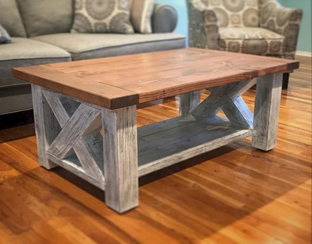 Best chunky farmhouse coffee table 10