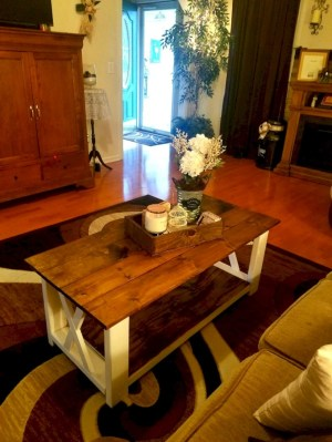 Best chunky farmhouse coffee table 18