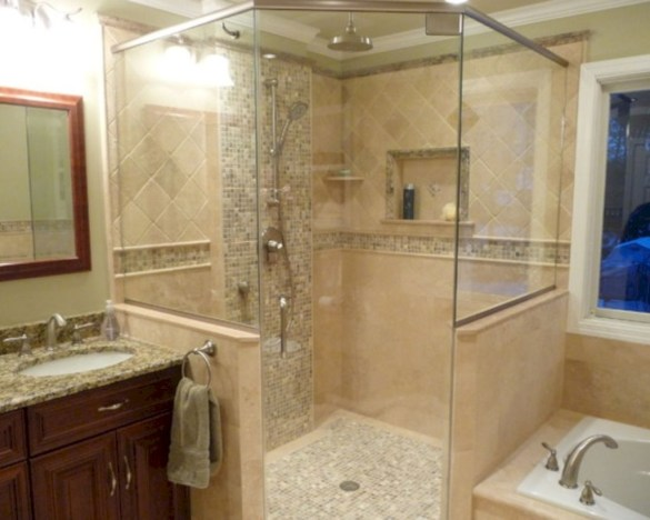 Best classic glass block shower layout 23