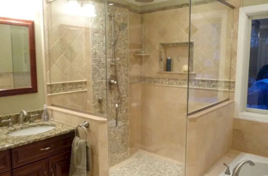 30 Best Classic Glass Block Shower Layout