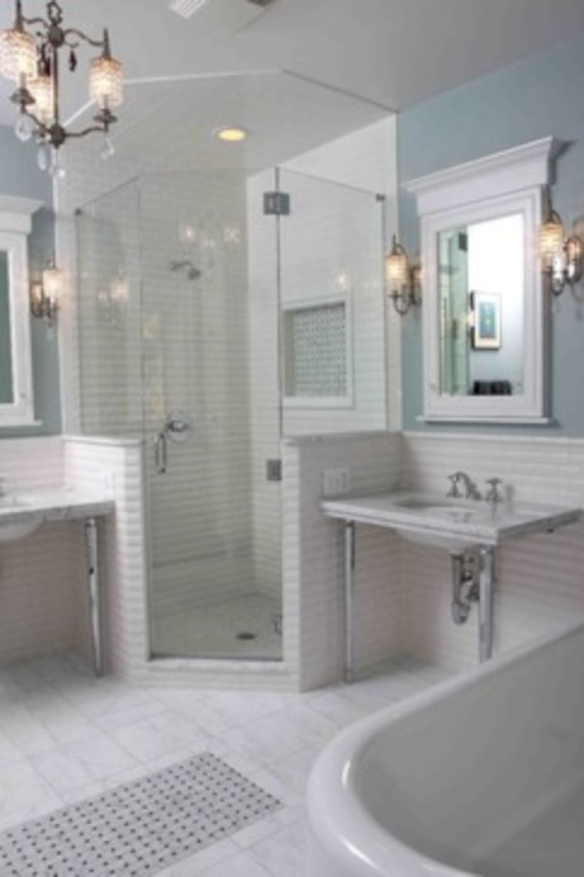 Best classic glass block shower layout 29