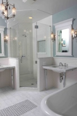 Best classic glass block shower layout 29