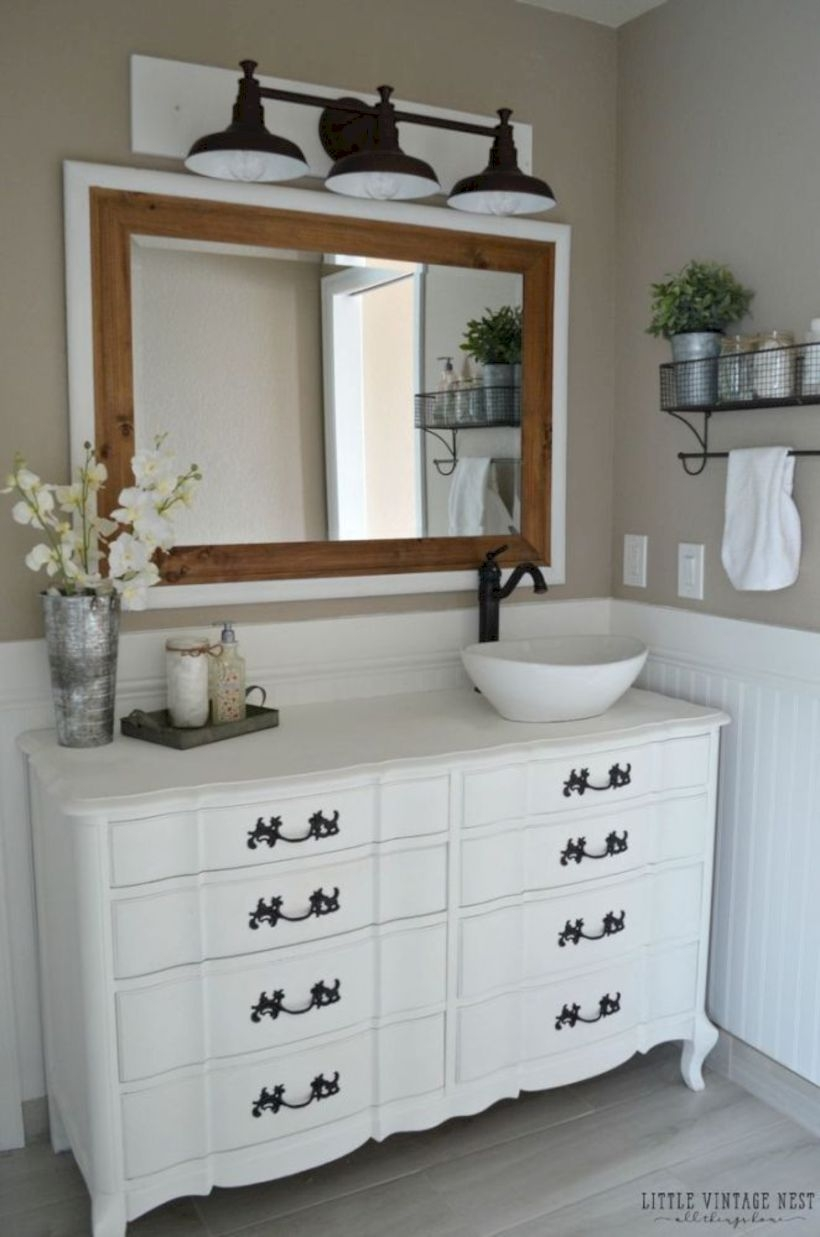 Best modern vintage bathroom reveal 05
