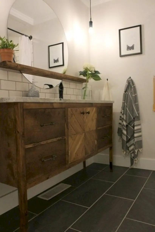 Best modern vintage bathroom reveal 11