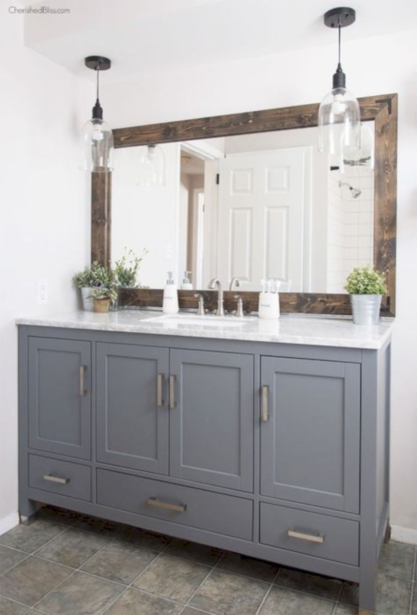 Best modern vintage bathroom reveal 13