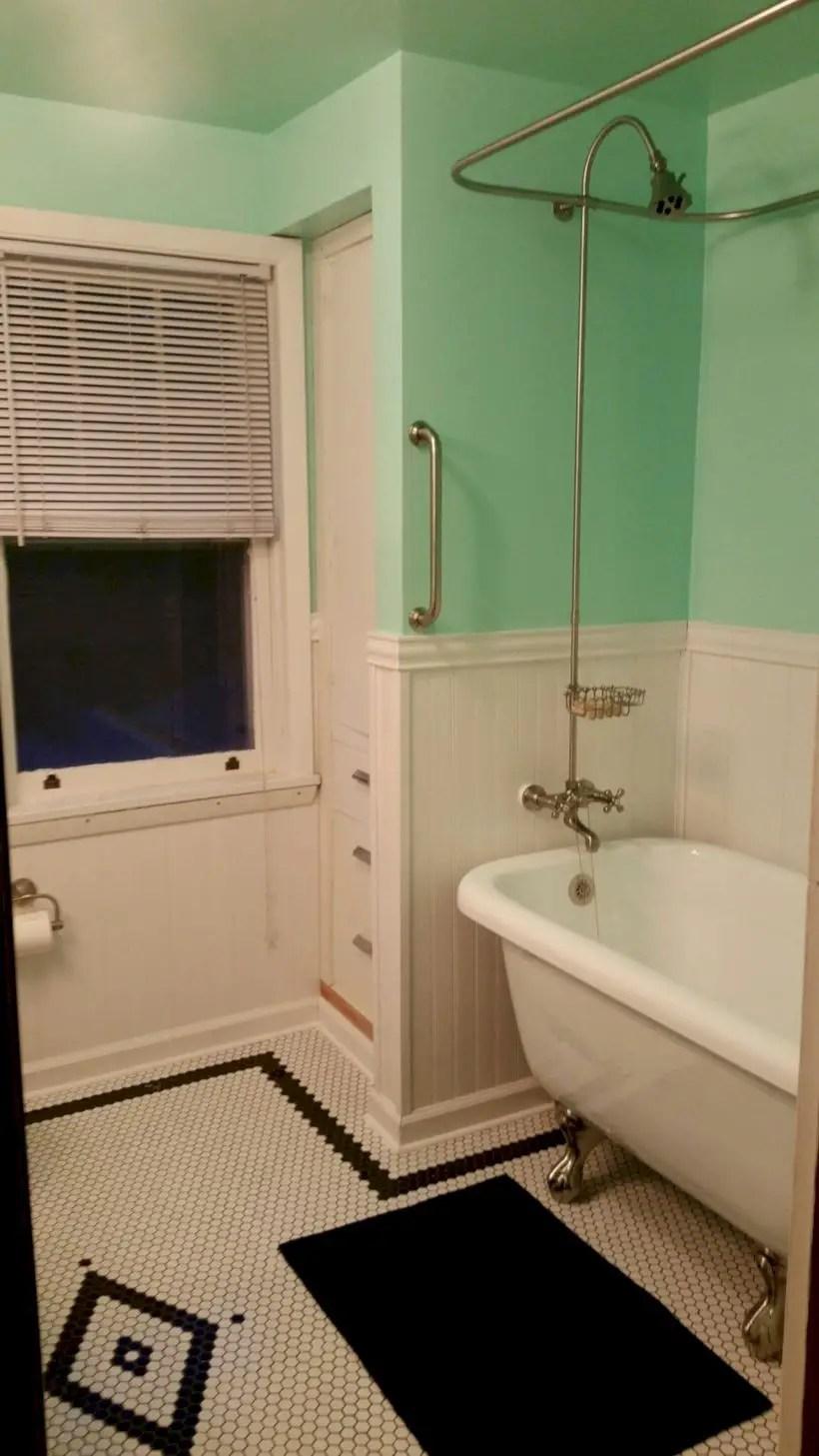 Best modern vintage bathroom reveal 14