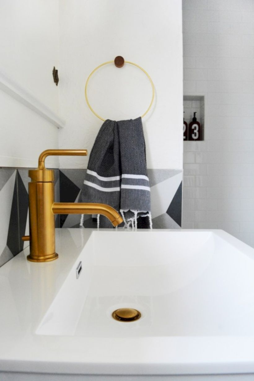 Best modern vintage bathroom reveal 15