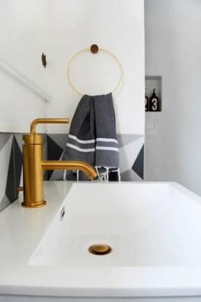 Best modern vintage bathroom reveal 15