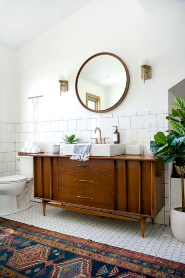 Best modern vintage bathroom reveal 17