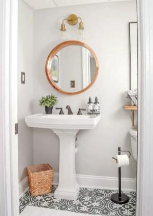 Best modern vintage bathroom reveal 24