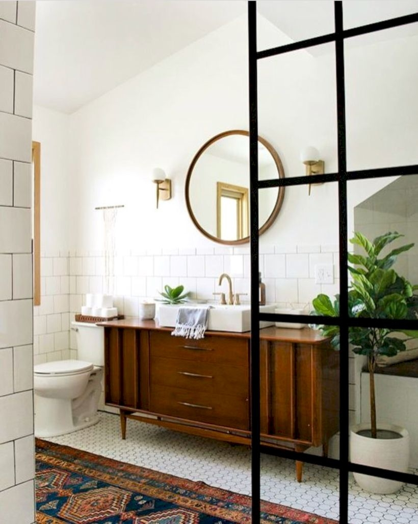 Best modern vintage bathroom reveal 29